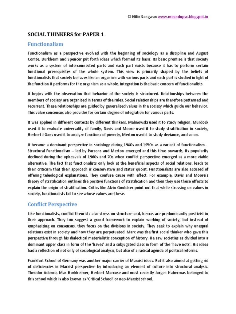 Social thinkers for paper 1pdf sociology social alienation biocorpaavc