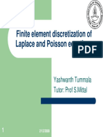 Finite Element Discretization Of Laplace and Poisson Equations
