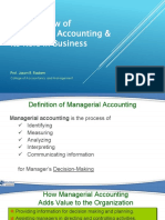 Overview of Managerial ASccounting