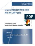 Reliability Analysis and Robust Design - Matlab