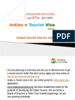 Urgent Tourist Visa for India – Indian e Tourist Visa