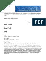 Retail Foods  Saudi Arabia