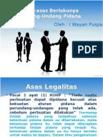 Asas-Asas Berlakunya Undang-undang Pidana