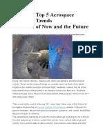 Top 5 Aerospace Trends