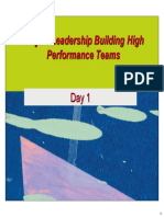 Project Leadership Building High Performance Teams - Day 1
