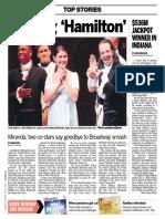 """Leaving 'Hamilton'"" - deadline coverage, Lin-Manuel Miranda's final performance"