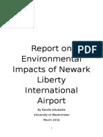 Environmental Impacts of Newark Liberty International Airport