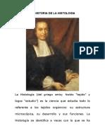 La Historia y Antecedentes de La Histologia