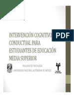 4 Unam Intervencion Cognitivo Conductual Estudiantes Ems