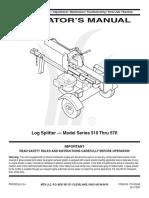Mtd Yard Machine 25 Ton Log Splitter Manual