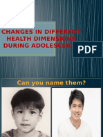 Changes in Different Health Dimensions During Adolescence
