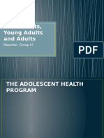Adolescents, Young Adults and Adults