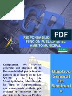 Responsabilidad por la Función Pública en el Ámbito Municipal