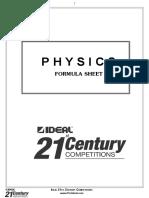 Physics Formula Booklet