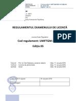 reguli licenta UMFTGM