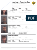 Peoria County Jail Booking Sheet for July 10, 2016