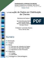 Ordenação de Dados por Distribuição de Chaves