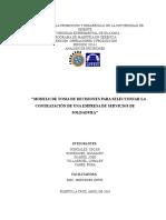 Modelo de Toma de Decisiones Para La Contratacion de Una Empresa