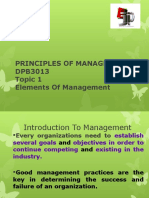 chpter 1 principle of management