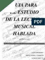 Guía Para El Estudio de La Lectura Musical Hablada