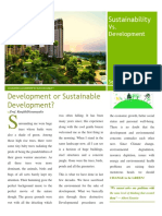 Sustainability vs Development