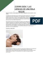 No Dormir Bien y Las Consecuencias de Una Mala Noche