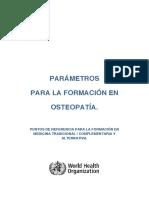 Parametros para la Formación en Osteopatía por la OMS.pdf