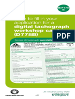 Digital Tachograph Workshop Card Appliation Guidance d778b