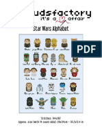 Star Wars Alphabet - Cloudsfactory [Cross Stitch Chart]