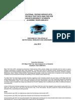 MFT Data Analysis 2008-2013