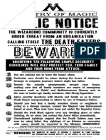 Death Eaters Ministry of Magic Advice Poster