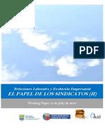 Relaciones Laborales y Evolucion Empresarial. EL PAPEL DE LOS SINDICATOS II