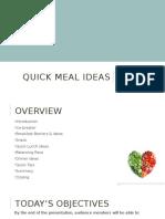 quick meals presentation