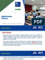 Tema_ SubTotales Filtros Excel 2013