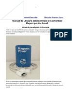 Manualul de Conditionare a Unitatii Magrav