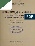 Estructuras y Metodo en La Suma Teologica de Santo Tomas de Aquino - Ghislaim Lafont