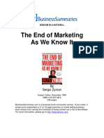 Book Summary the End of Marketing as We Know It