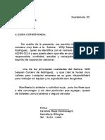 Carta de Recomendacion Plantilla