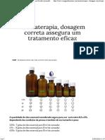Aromaterapia - Dosagem Correta Para Diluição