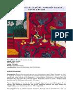 Arte Fauvismo - El Mantel, Armonía en Rojo, Henri Matisse