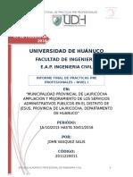 INFORME_FINAL ddde Practicas Pre Profecionales - John Vasquez Salis