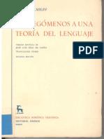 Prolegomenos a Una Teoria Del Lenguaje Louis Hjelmslev