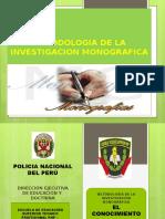 Diapositvas Metodologia de La Investigacion Monografica Con Efectos
