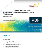 Unified Data Center Architecture Integrating of Unified Computing System Technology