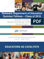DDOE Summer Fellows 2016