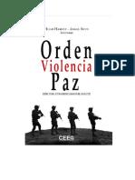 Libro Orden Violencia Paz
