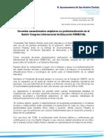 Boletín 293.- Docentes Sanandreseños Ampliaron Su Profesionalización en El Quinto Congreso Internacional de Educación FEMEXVAL