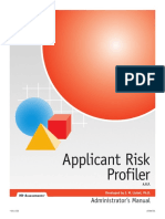 Applicant Risk Profiler Test Manual.pdf