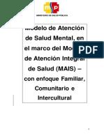 Modelo de Atención de Salud Mental  Julio 2014
