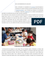 Aporte a Los Fundamentos de La Educación Final